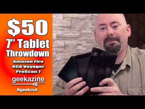 $50 7 Inch Tablet Video Review: Amazon Fire, Voyager7, ProScan