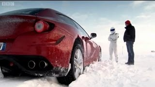 The Ferrari FF and Bentley Continental V8 are put through their paces at a unique test track on the edge of the Arctic Circle.