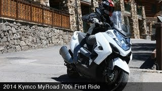 9. 2014 Kymco MyRoad 700i First Ride - MotoUSA