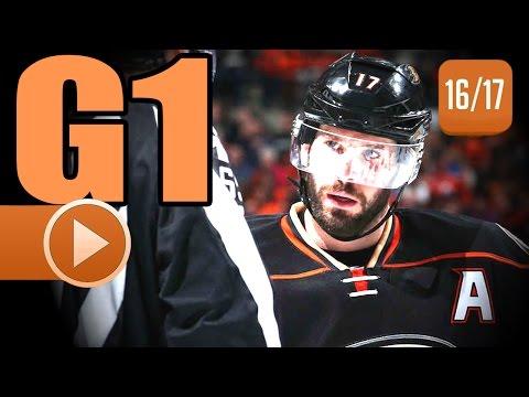 Edmonton Oilers vs Anaheim Ducks. 2017 NHL Playoffs. Round 2. Game 1. April 26th, 2017. (HD)