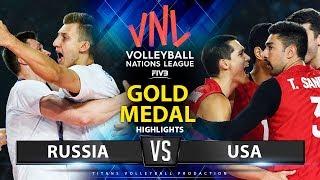 Russia vs USA  | Gold Medal Match | Highlights | Men's VNL 2019