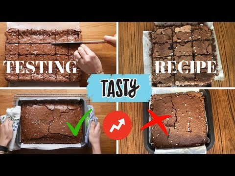 "TRYING TASTY ""BEST BROWNIES YOU'LL EVER EAT"" RECIPE - Buzzfeed test"