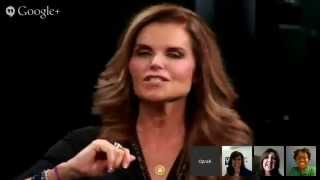 Maria Shriver and Oprah Talk Paycheck to Paycheck on a Google+ Hangout
