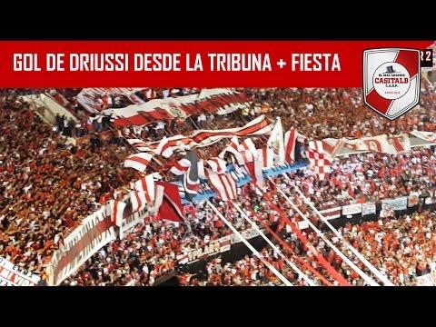 GOL DE DRIUSSI + FIESTA / River Plate vs Melgar / Copa Libertadores 2017 - Los Borrachos del Tablón - River Plate