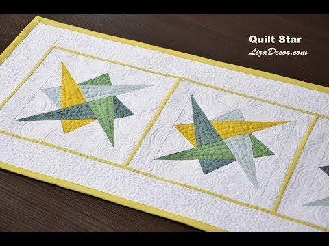 patchwork - stella con triangoli ipnotici