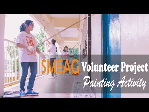 [Learning English] English Academy in Cebu, Philippines: Volunteer Project: Painting Activity