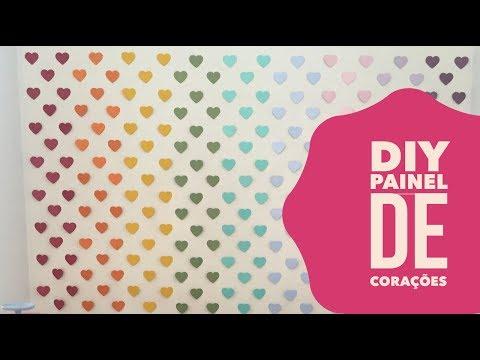 Versos de amor - DIY Painel de Corações