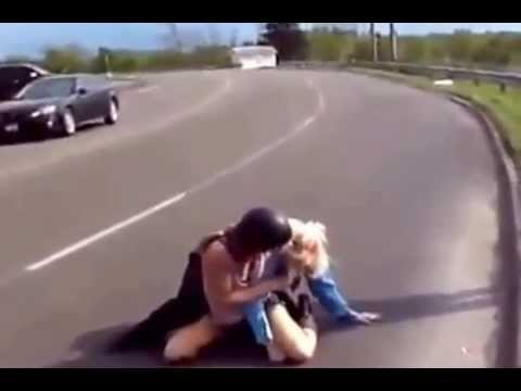 Female Security Guard Gets A Beatdown From A Biker Chick