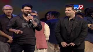 Prabhas Praises Karan Johar At Bahubali 2 Pre- Release Event | TV9
