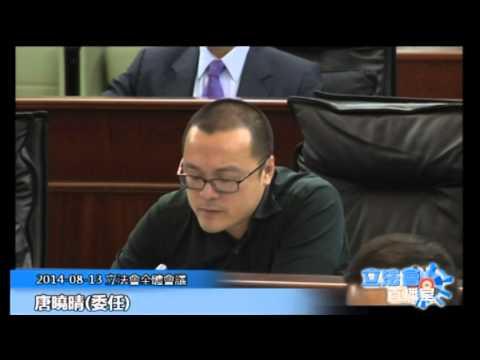 唐曉晴 立法會全體會議 20140813
