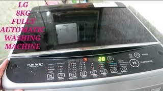 LG 8KG FULLY AUTOMATIC WASHING MACHINE   REVIEW & HOW TO USE
