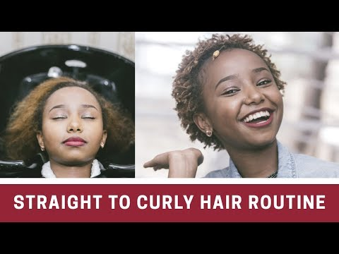 Hair salon - FROM STRAIGHT TO CURLY HAIR // FOREVER 21 SALON AND BARBER // Wabosha Maxine