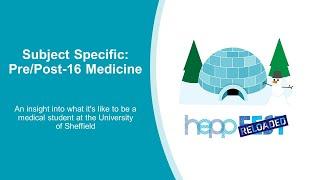 Subject Specific: Pre/Post 16 Medicine