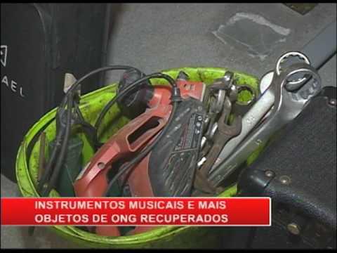 Polícia recupera instrumentos musicais furtados de ONG