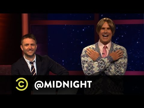 Midnight - Will Ferrell (aka Chad Softwick) shows Chris Hardwick, Rob Huebel, Michaela Watkins and Doug Benson a preview of the daytime spinoff @midday. Watch more from...