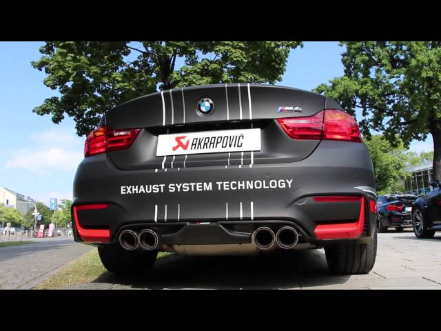 Akrapovic Titanium Exhaust for the new BMW F80 M3 + F82 M4