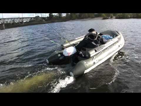 лодка пвх с двумя моторами видео