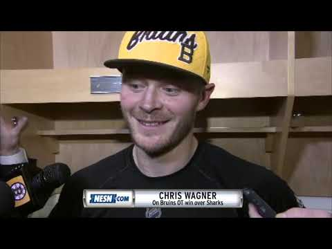 Video: Chris Wagner after the Bruins overtime win over the Sharks