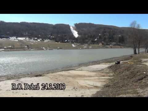 Stav vodnej hladiny v R.O. Domaša Dobrá k 24.3.2012 - video