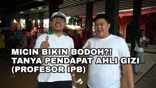 Makan micin bikin Bodoh?! apa pendapat Profesor IPB