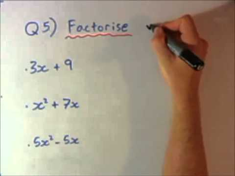 Reviewing Algebra plus Expanding and Factorising