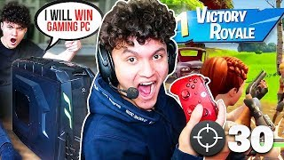 IF YOU WIN, I Will buy you a $5,000 GAMING PC (Fortnite Surprise Challenge)