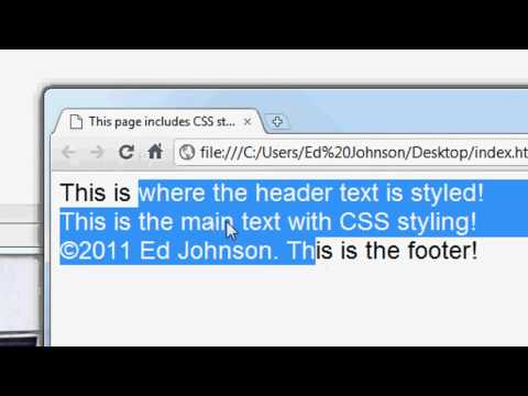 css - In this, the first in a series of CSS website design tutorials, I will teach you how to setup and link an external CSS style sheet with a HTML web page. I wi...