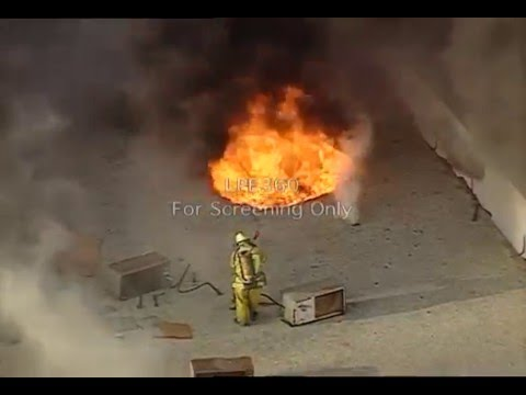 Anaheim Roof Operations Close Call Video Firefighter