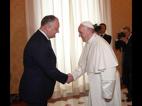 Moldovan President Igor Dodon had a meeting with the Sovereign Pontiff, His Holiness Pope Francis