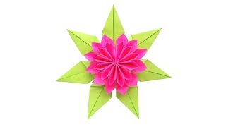 Красивый цветок из бумаги для украшения подарка