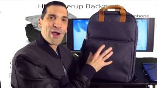 The new HP Powerup Backpack makes sure you stay charged