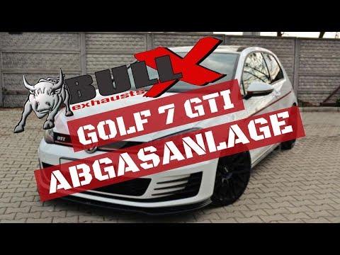 Zeit für mehr Sound! GOLF 7 GTI BULL-X Abgasanlage