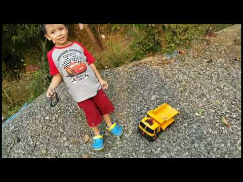DUMP TRUCK OFF ROAD ALA HILMY | KIDS VIDEO