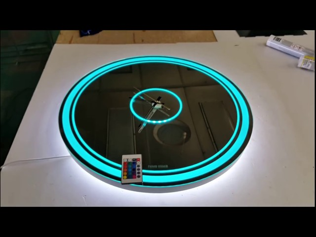 Зеркало-часы с RGB подсветкой