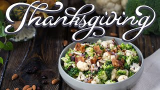 Thanksgiving Side Dishes: Broccoli and Cauliflower Salad by Home Cooking Adventure