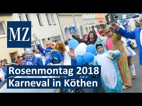 Rosenmontagsumzug 2018 in Köthen - tausende Narren  ...
