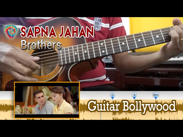 Learn2play Sapna Jahan Brothers Chords Guitar Bollywood Lesson : AllMusicSite.com
