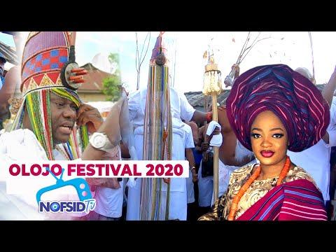 OMG! DIFFERENT DEITIES DISPLAY & REJOICE WITH OBA ENITAN OGUNWUSI DURING  OLOJO FESTIVAL 2020