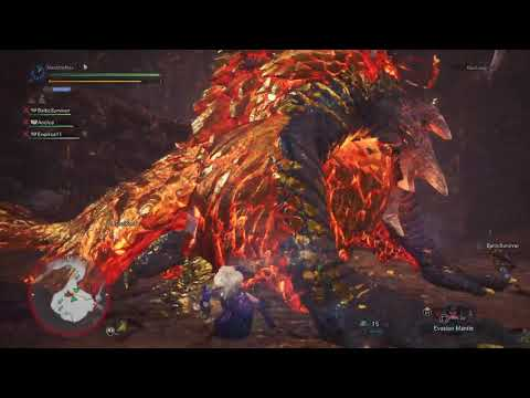 MHW - Kulve Taroth Pursuit Level 1 Clear 14'54 (Multiplayer SnS PoV)