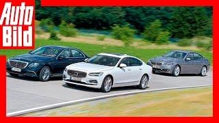 Test / Fahrbericht / Review / Mercedes vs Volvo vs BMW (2016) / Volvo greift die Oberklasse an by Auto Bild