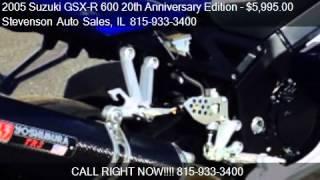 5. 2005 Suzuki GSX-R 600 20th Anniversary Edition GSXR600 Sport