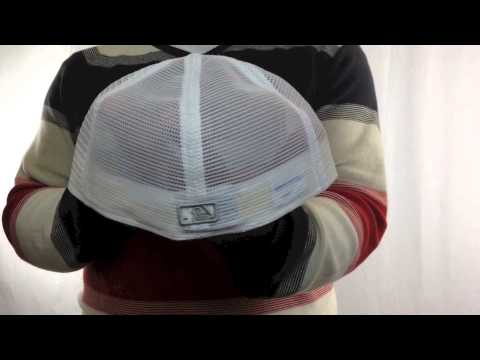 Pirates 'MLB FLOCKING MESH-BACK' White Fitted Hats by New Era