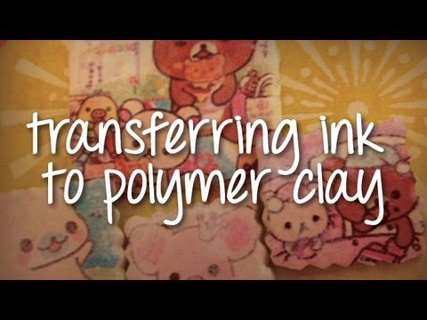 tutorial fimo: how to transfer images to polymer clay