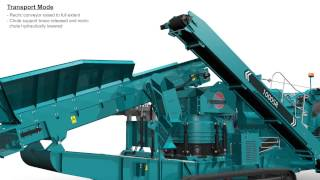 Animation of Powerscreen 1000 SR Maxtrak cone crusher