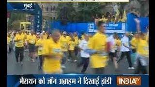 John Abraham, Anil Ambani, Neha Dhupia Take Part In Mumbai Marathon