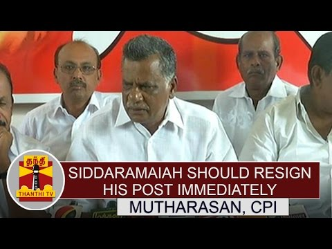 Cauvery-Dispute-Siddaramaiah-should-Resign-his-post-Immediately-Mutharasan-CPI-Thanthi-TV