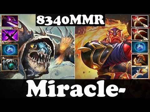 Dota 2 - Miracle- 8340 MMR Plays Slark And Ember Spirit - Pub Match Gameplay