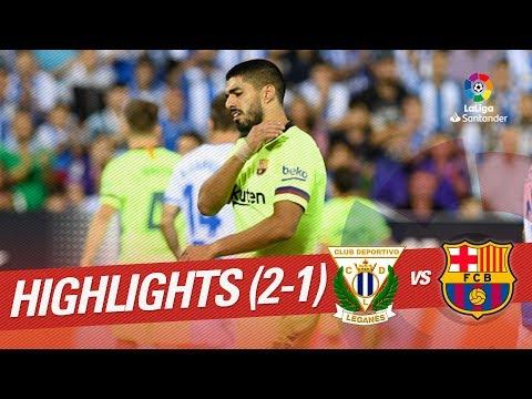 Resumen de CD Leganés vs FC Barcelona (2-1) - Thời lượng: 1:39.