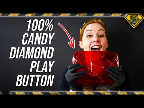 This Diamond Play Button Is Made COMPLETELY Out of CANDY
