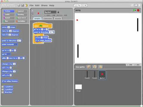 scratch - This is a video tutorial that will show you how to create the original pong game. It's a pretty simple implementation. Watch the video in HD so that you can ...